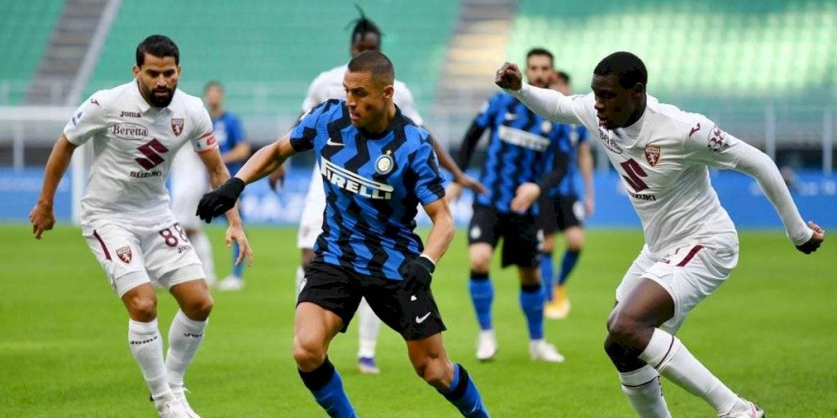 Alexis Sánchez fue la gran figura en la remontada del Inter de Milan con Arturo Vidal de titular
