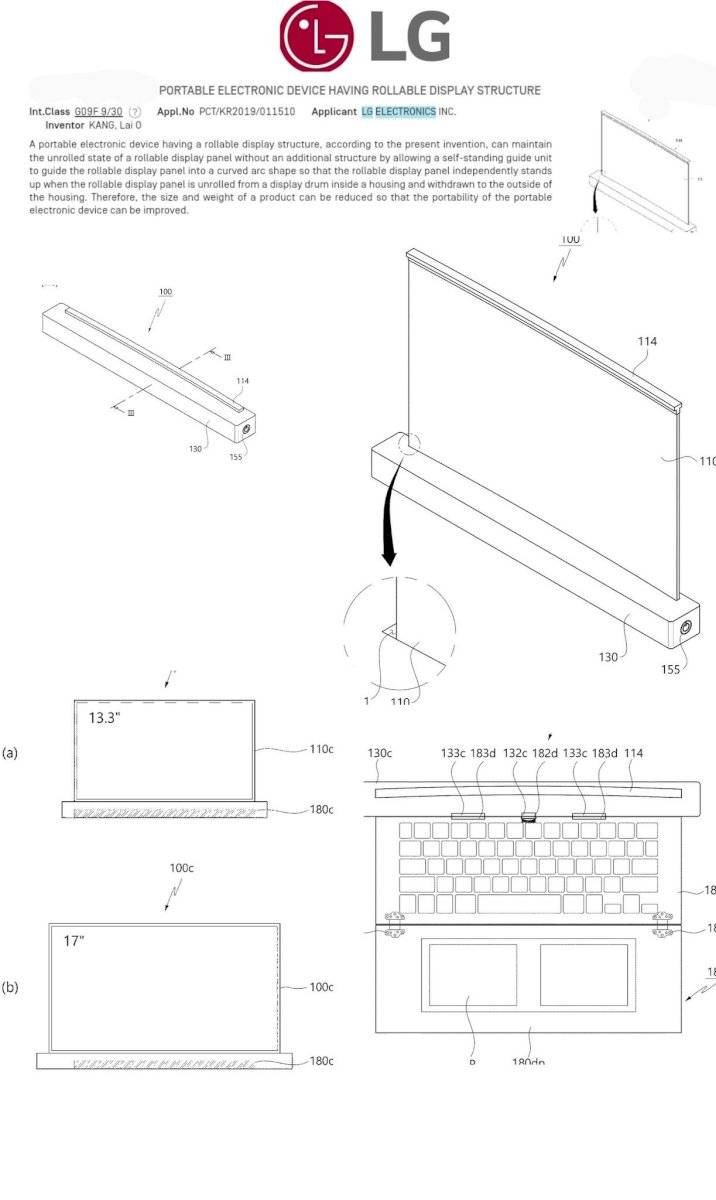 Un registro de patente muy descriptivo parece revelar el futuro de LG: pantallas que se enrollan para todos los gadgets posibles.