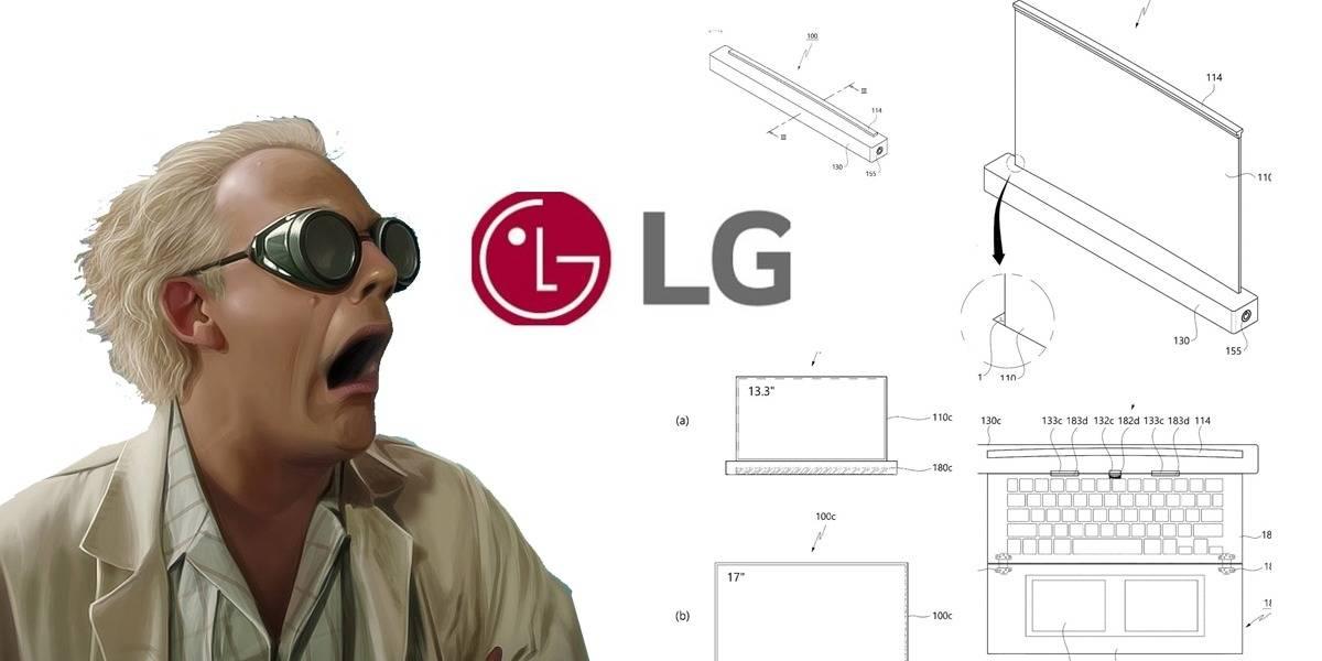 LG podría estar desarrollando una laptop con pantalla que se enrolla