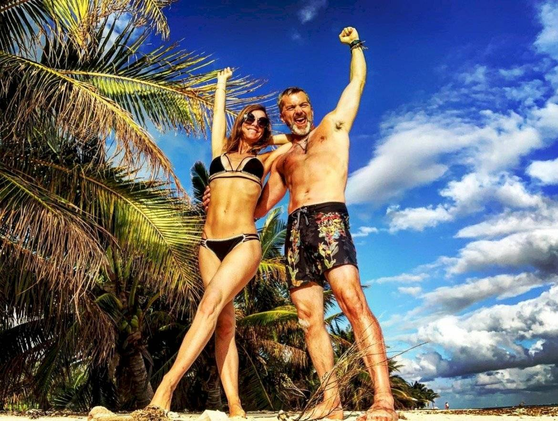 Diana Bolocco y Cristián Sanchez en sus vacaciones.