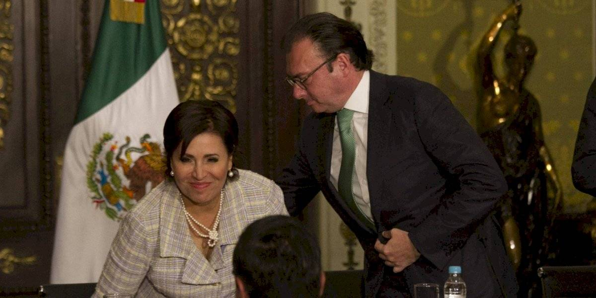 Videgaray asegura que es inocente; Rosario Robles está desesperada, dice