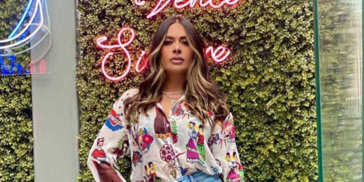 Galilea Montijo impactó en su regreso a Hoy con un jean de lentejuelas y un maxi blazer elegante