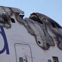 Boeing 747 aparcado se incendia en el aeropuerto de Castellón