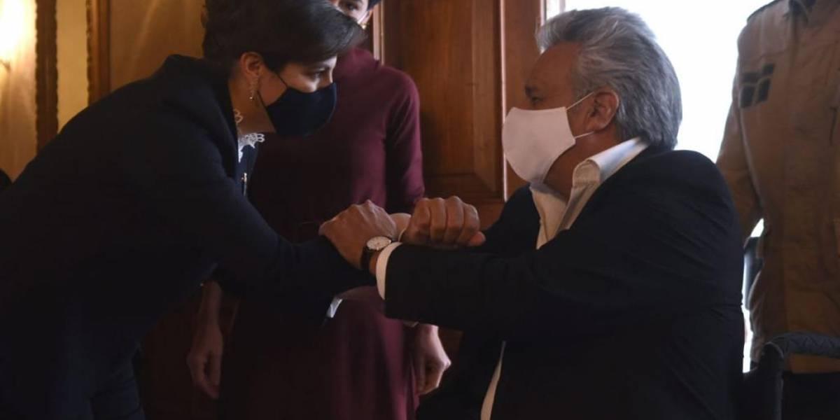 """Lenín Moreno sobre juicio político a María Paula Romo:  """"La labor efectiva que realizó en los terribles días de octubre 2019 debe ser reconocida"""""""