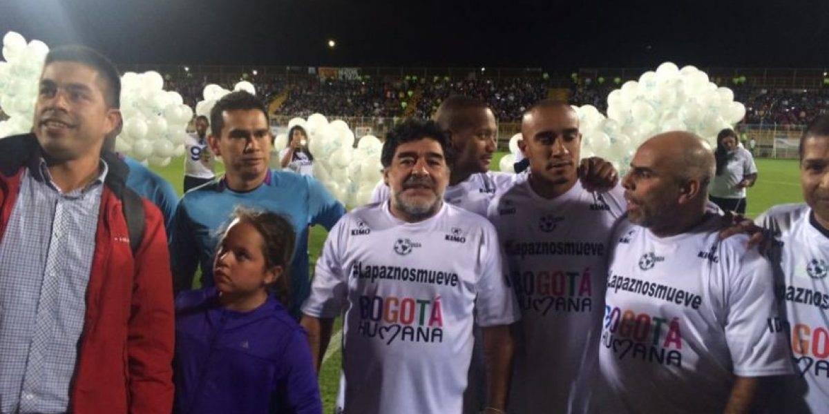 El último partido de Maradona en Colombia terminó en un escándalo