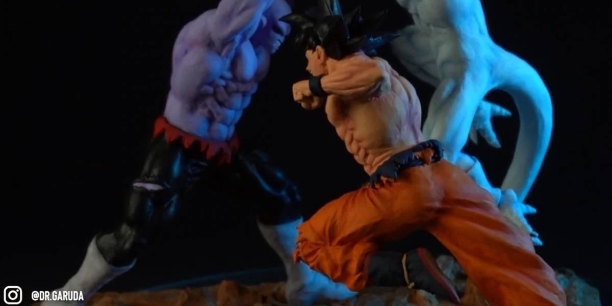 Dragon Ball Super: un artista fabricó sus propias figuras y recreó en una maqueta, la feroz batalla del torneo de poder