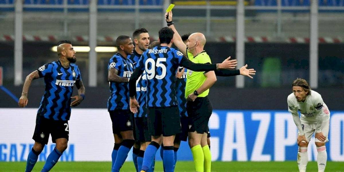 Inter de Milan de los chilenos no pudo ante el Real Madrid y se complicó en la Champions League