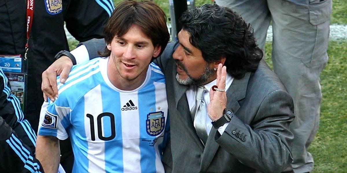 """Messi: """"Nos deja pero no se va, porque el Diego es eterno"""""""