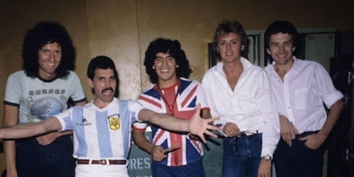 Ídolos: La vez que Diego Maradona y Freddy Mercury se conocieron