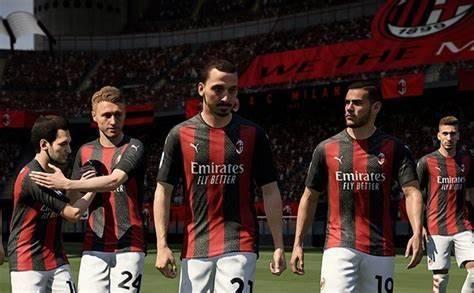 Zlatan y sus compañeros del AC Milan.