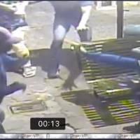Cámaras captaron momento que intentaron robar al periodista Roberto Oña