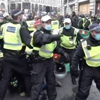 Varios detenidos en una protesta contra el confinamiento en Londres