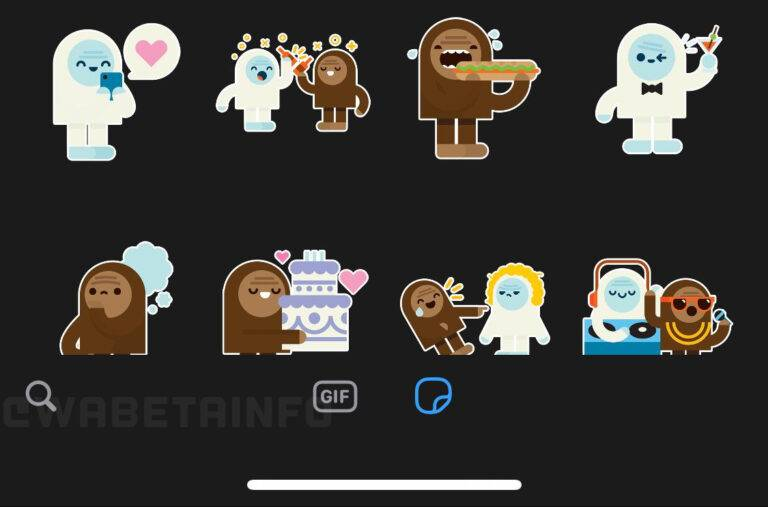 WhatsApp buscar stickers