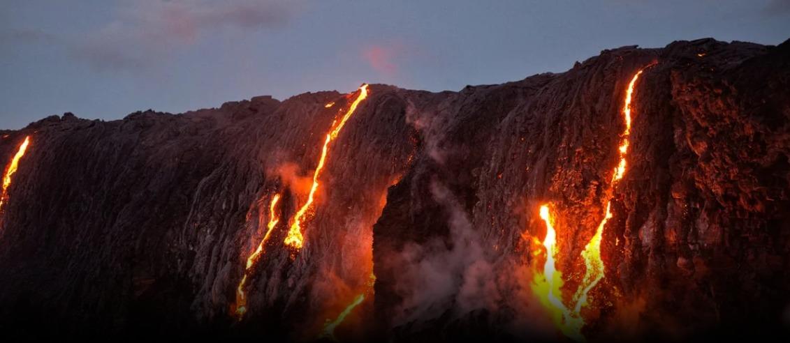 Volcán Kilauea, en Hawai.