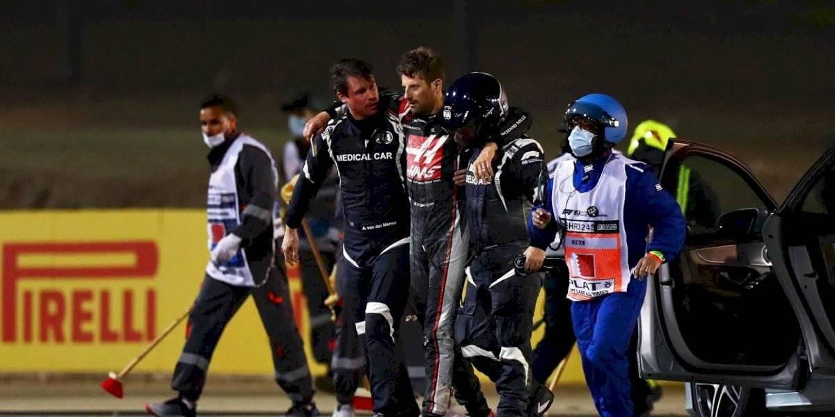 Video: piloto de Fórmula 1 protagoniza escalofriante accidente, Grosjean salió del coche en llamas