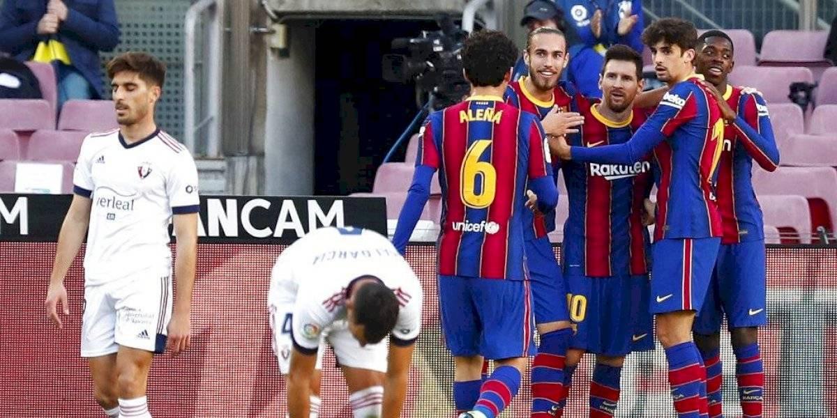 Ojos vidriosos de Messi durante homenaje de FC Barcelona a Maradona