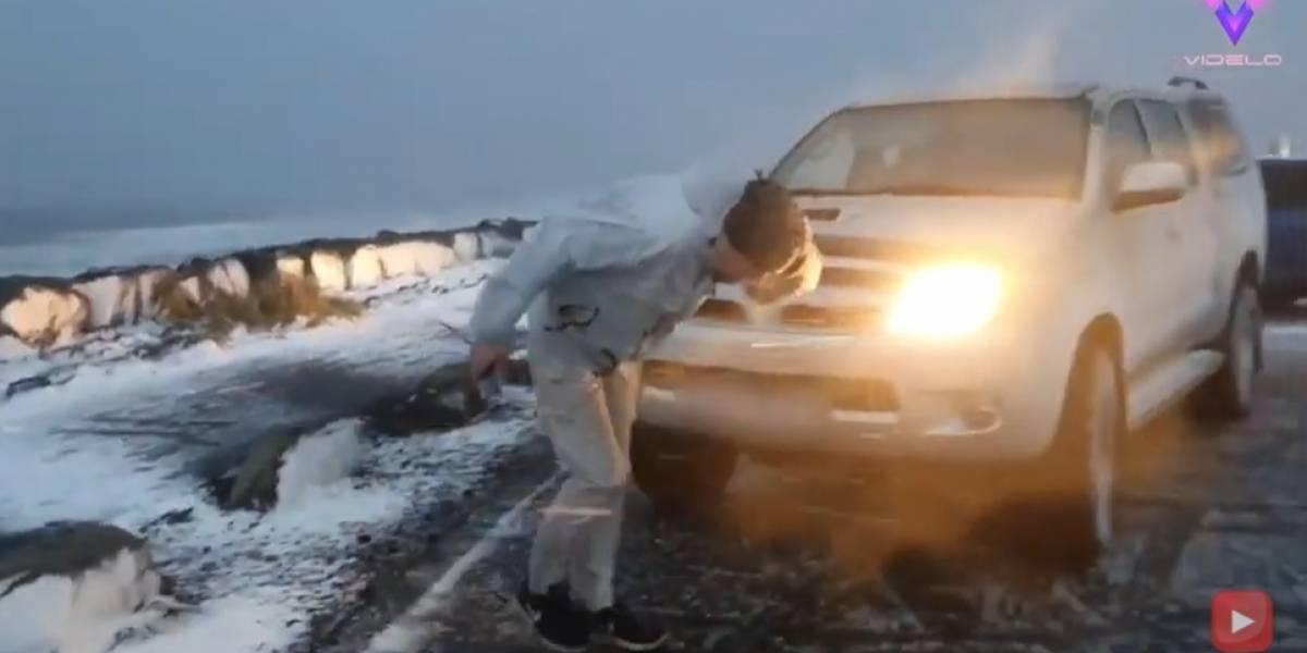 """Desconecta.- El cazador de tormentas Muhammed Kizilkaya graba el paso de una """"bomba meteorológica"""" en Islandia"""