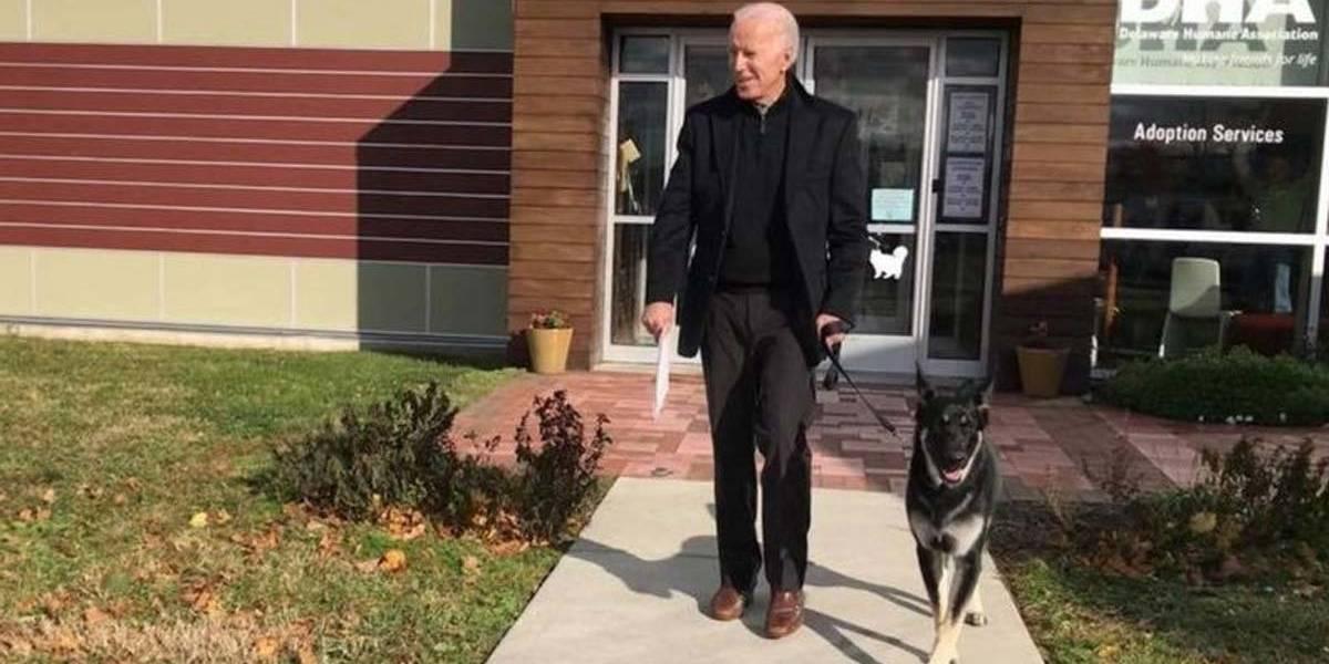 Una vida accidentada: Joe Biden se fractura el tobillo jugando con su perro