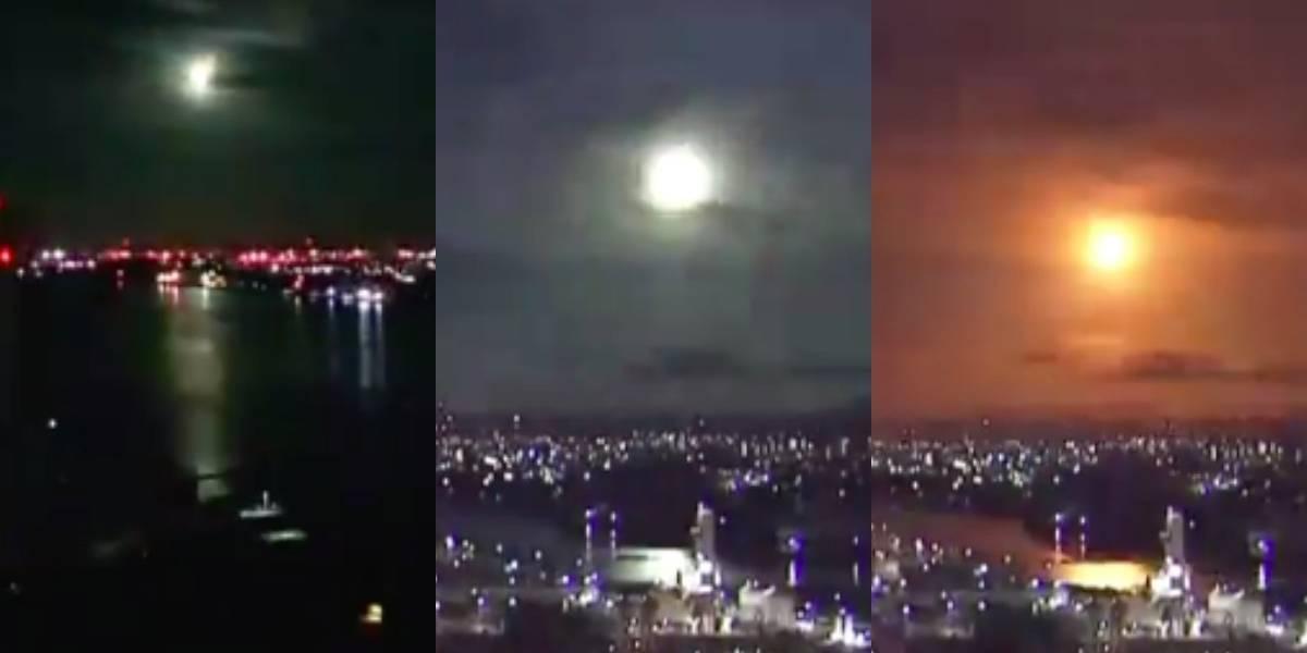 Así fue la impactante caída de un meteorito en Japón