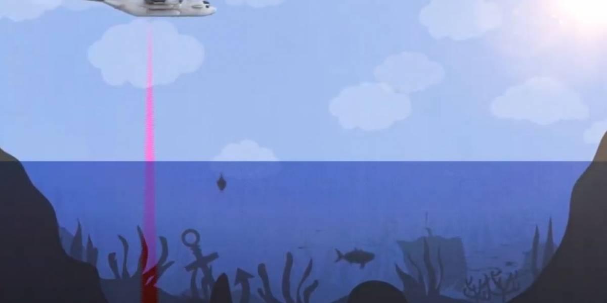 Ciencia.-Un sónar aerotransportado para ver el fondo marino como tierra firme