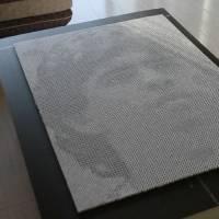 Artista chino crea un retrato de Maradona utilizando dados