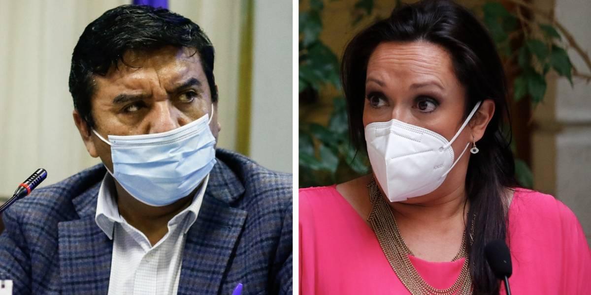 "Escándalo en la Cámara: PC acusa al diputado Pedro Velásquez de ""agredir verbalmente"" a Marisela Santibáñez"