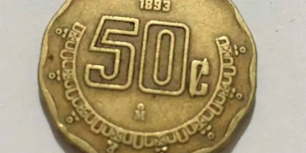 Monedas de 50 centavos y 5 pesos valen miles de pesos en la web