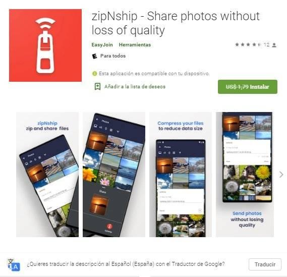 App reductor de fotos