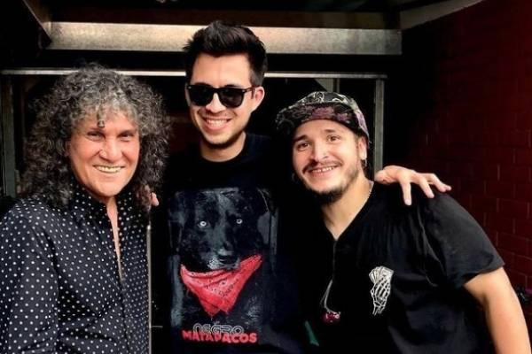 Gustavo Gatica se sumó a Santaferia y Roberto Márquez para tocar un par de canciones