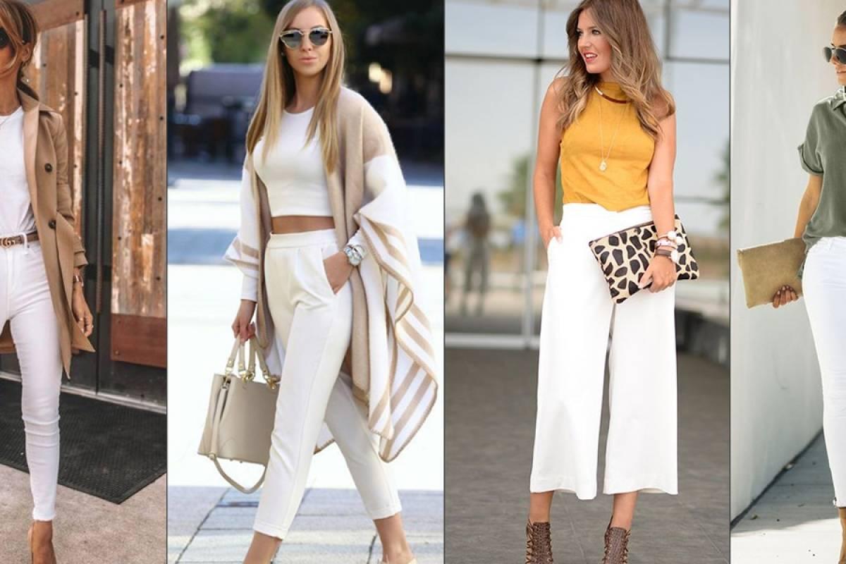 Looks Con Pantalon Blanco Para Derrochar Elegancia Y Estilo Sin Miedo A Las Celulitis Nueva Mujer