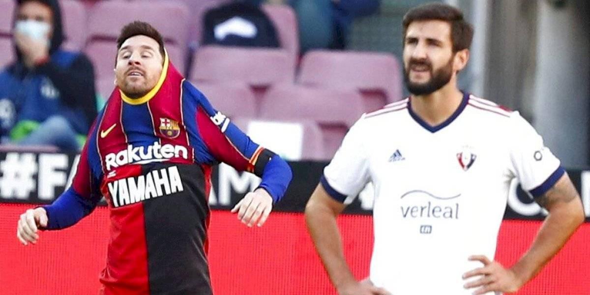 Messi recibe multa de 600 euros por su homenaje a Maradona