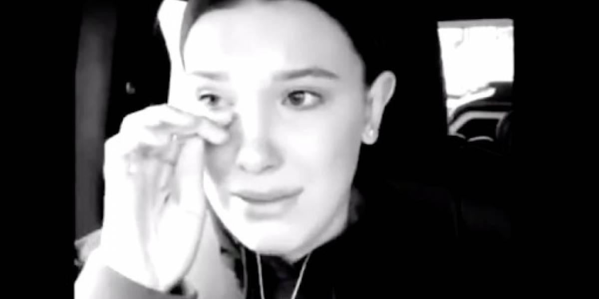 Millie Bobby Brown rompe en llanto después de ser acosada