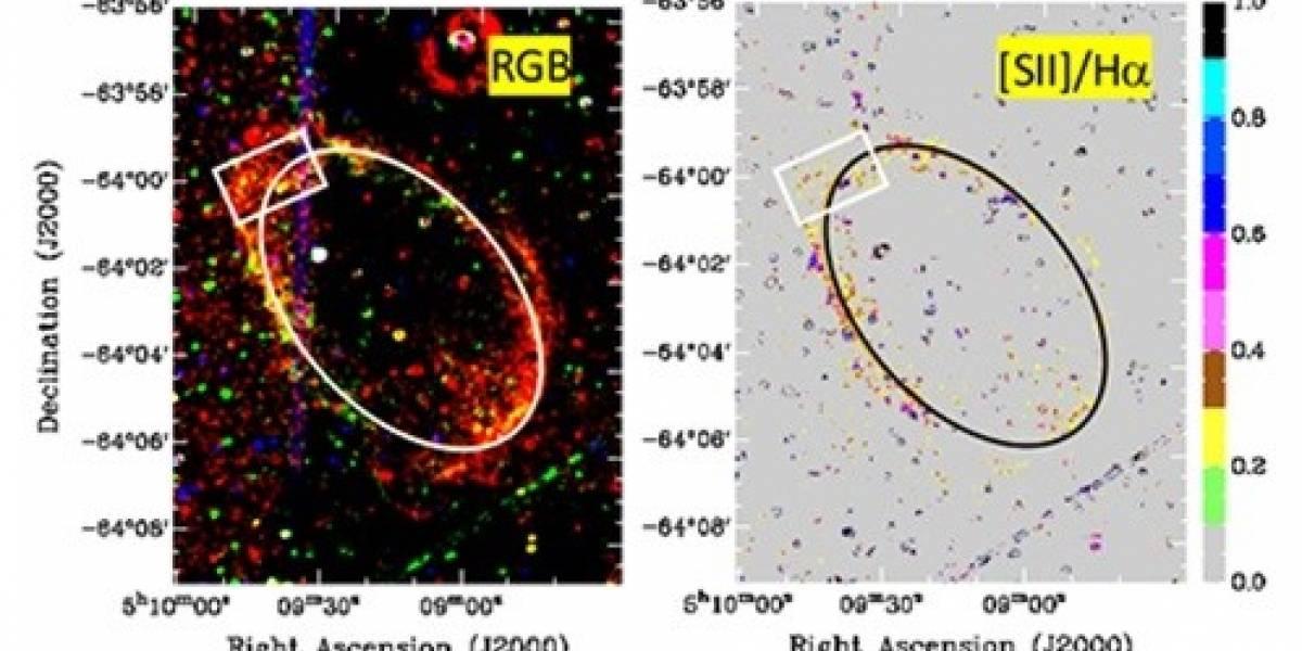Tenaces supernovas de 120 mil años son reveladas en una galaxia vecina