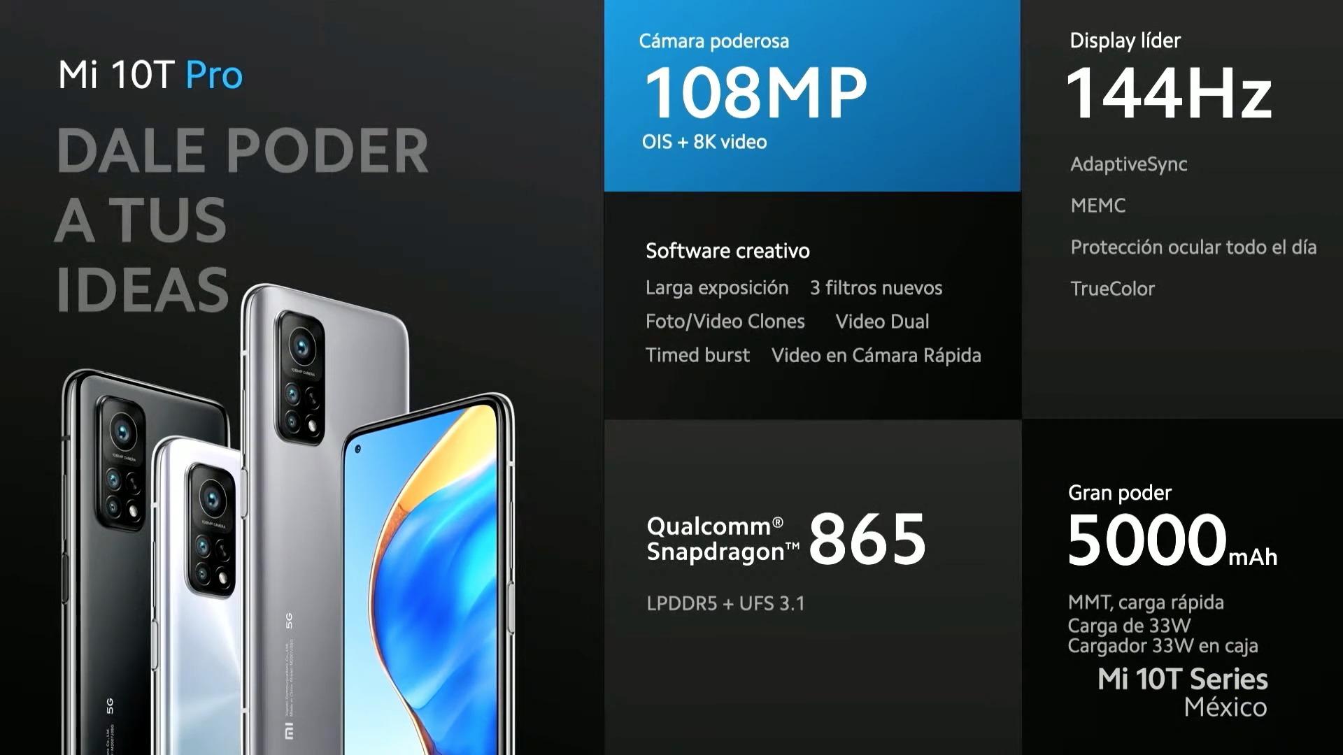 Xiaomi Mi 10T Pro lanzamiento México