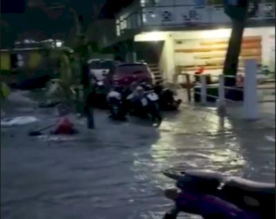 En Providencia ahora están inundados debido a las fuertes lluvias de las últimas horas