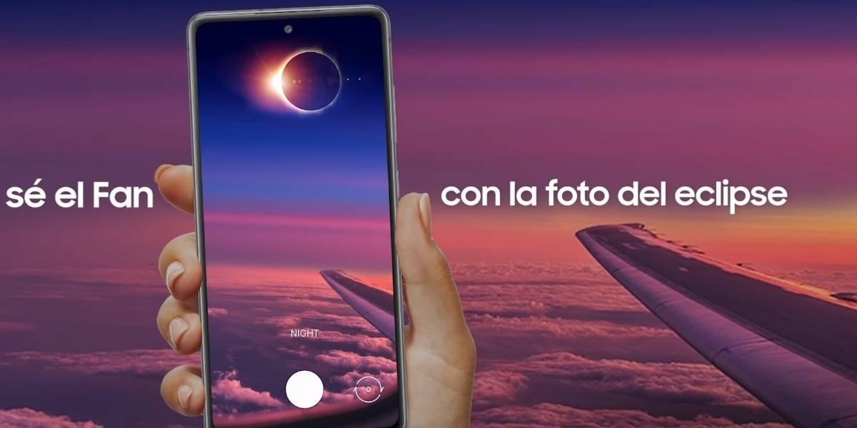 Samsung Chile te sube a un avión para fotografiar el eclipse con su Galaxy S20 FE - #S20FanEclipse