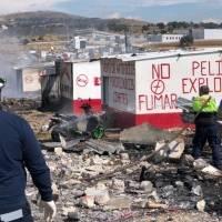 Se registra fuerte explosión en polvorín de Tlaxcala