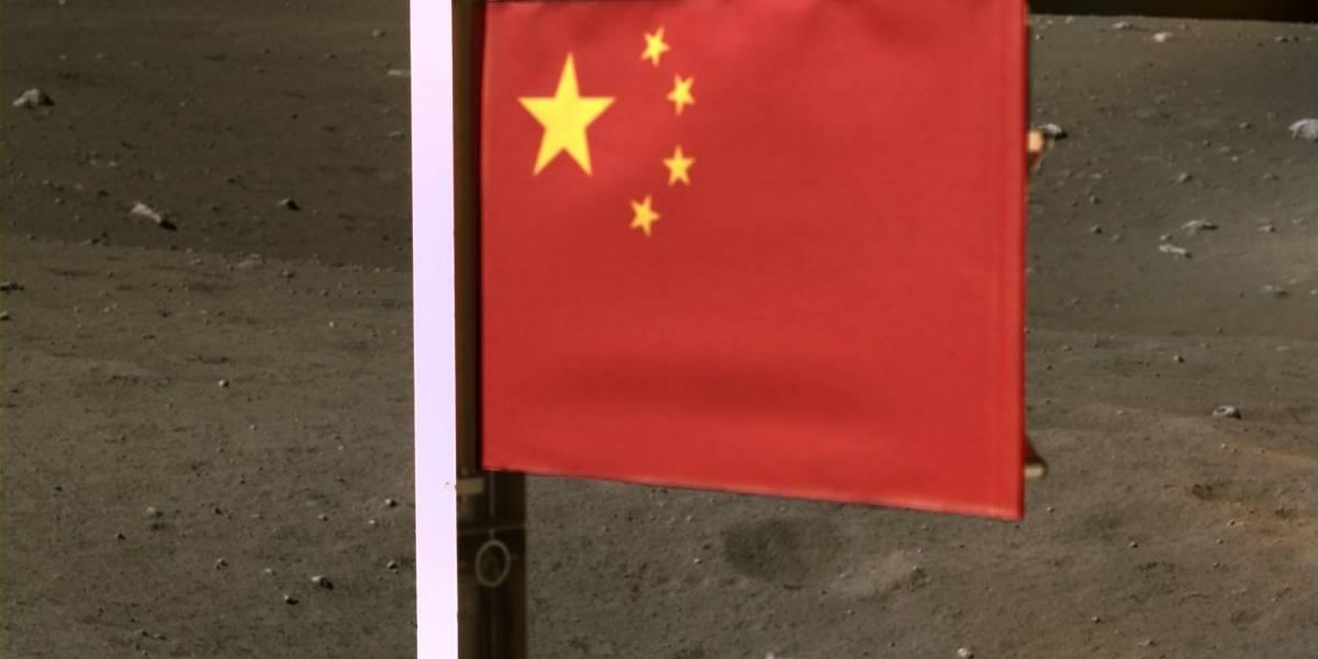 Astronomía: Chang'e-5 plantó una bandera de China en la Luna que soportará las condiciones climáticas del satélite