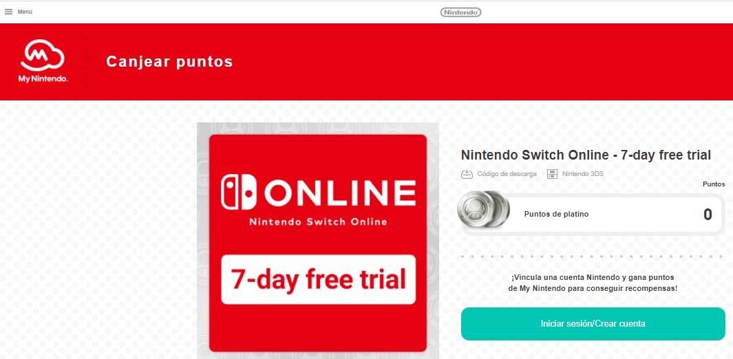 Prueba Gratis Nintendo