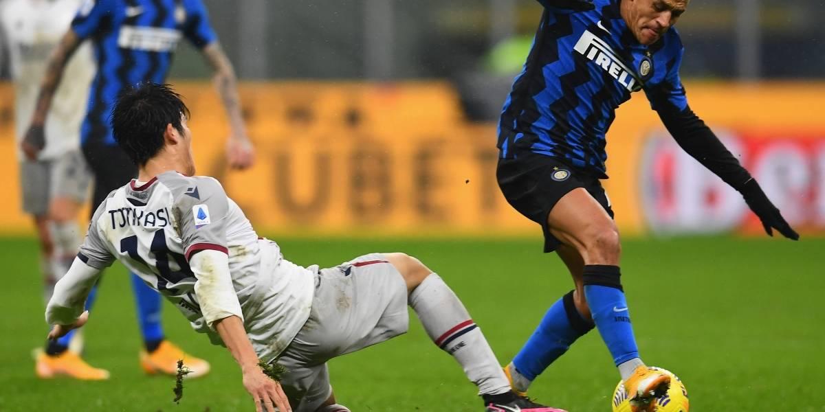 El Inter de Alexis y Vidal le ganó el duelo de chilenos al Bologna de Medel