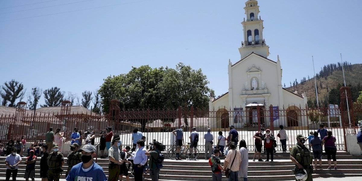 Lo Vásquez: peregrinos se adelantan y llegan al Santuario pese a las restricciones