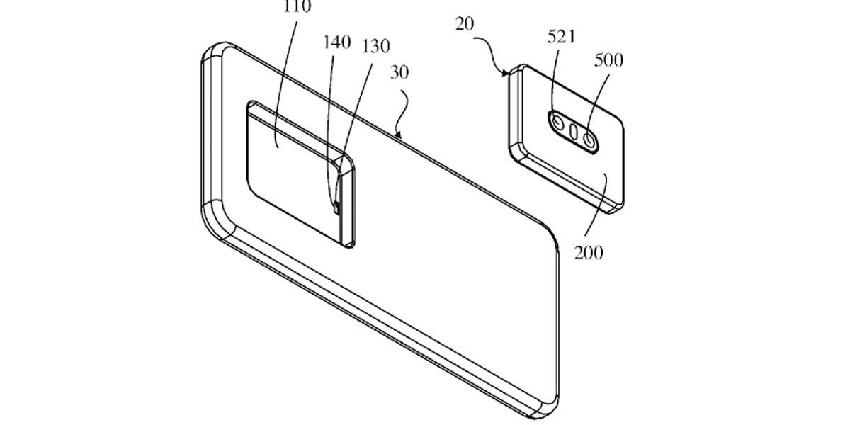 Oppo patenta smartphone al que se le puede quitar el módulo de la cámara