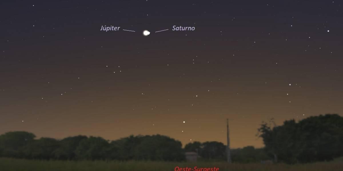 Júpiter y Saturno se verán tan cercanos entre sí como hace 794 años