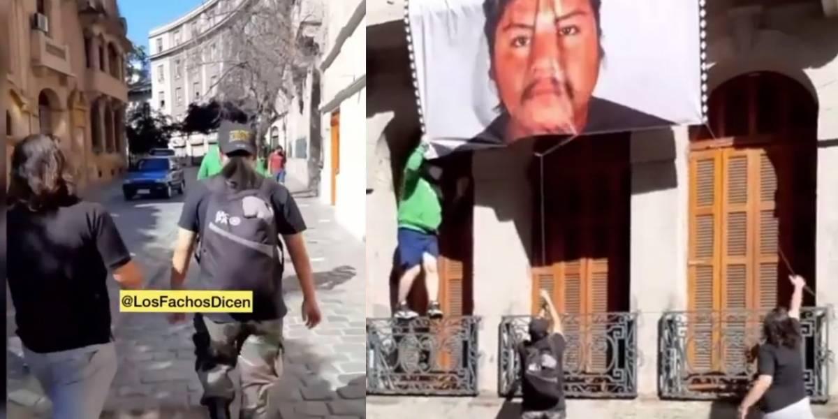 """""""Le vamos a quitar los ojos a todos"""": grupo de ultra derecha se adjudica robo de lienzo de Camilo Catrillanca"""