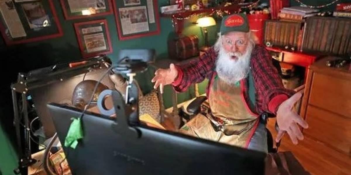 Santa Claus se adapta a la pandemia: ahora atiende por Zoom