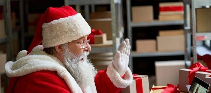 Santa Claus por Zoom.