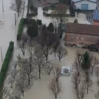 Imágenes aéreas muestran la extensión de las inundaciones en la provincia de Módena