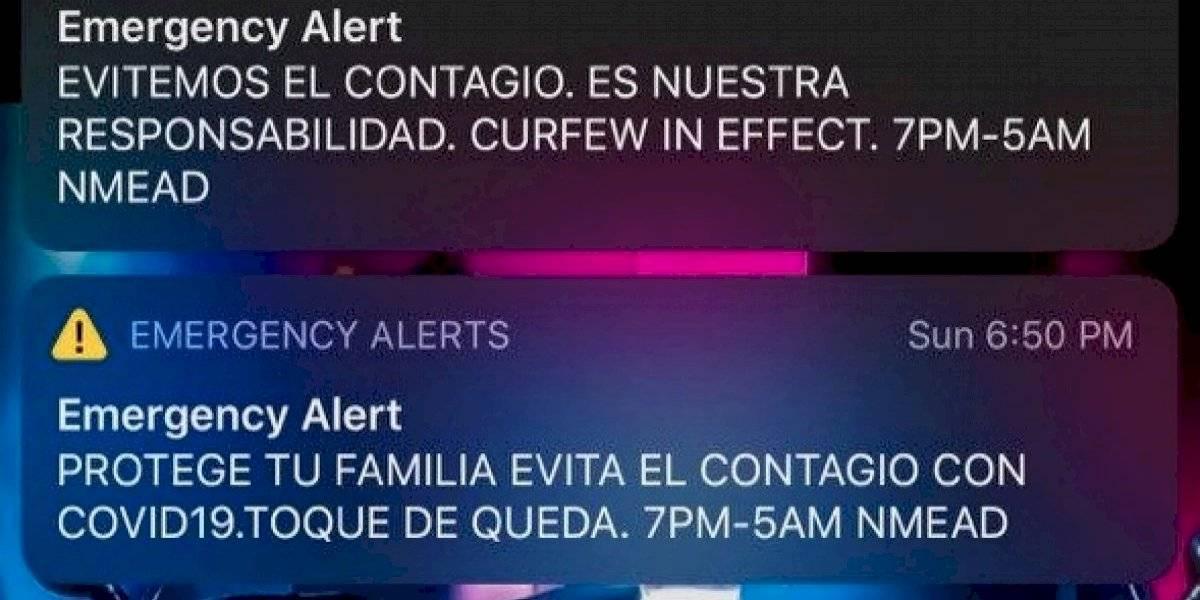 Alarma del toque de queda se enviará tres días a la semana