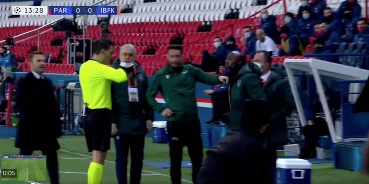 Inédito: PSG y İstanbul Başakşehir abandonaron la cancha tras comentario racista de cuarto árbitro