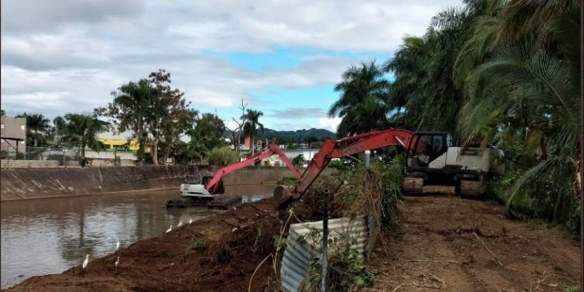 Prontos a terminar los trabajos de limpieza en el cauce del Río Yagüez
